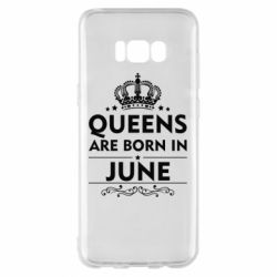 Чехол для Samsung S8+ Queens are born in June - FatLine