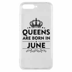 Чехол для Huawei Y6 2018 Queens are born in June - FatLine