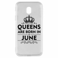 Чехол для Samsung J3 2017 Queens are born in June - FatLine