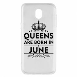Чехол для Samsung J5 2017 Queens are born in June - FatLine