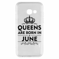 Чехол для Samsung A3 2017 Queens are born in June - FatLine