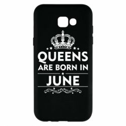 Чехол для Samsung A7 2017 Queens are born in June - FatLine