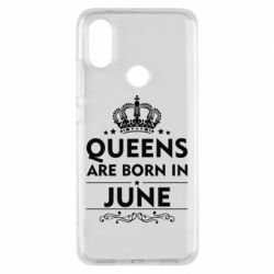Чехол для Xiaomi Mi A2 Queens are born in June - FatLine