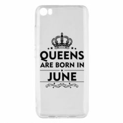 Чехол для Xiaomi Xiaomi Mi5/Mi5 Pro Queens are born in June - FatLine