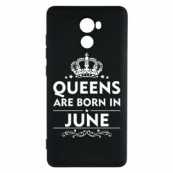 Чехол для Xiaomi Redmi 4 Queens are born in June - FatLine