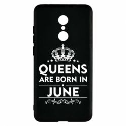 Чехол для Xiaomi Redmi 5 Queens are born in June - FatLine
