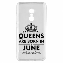Чехол для Xiaomi Redmi Note 4 Queens are born in June - FatLine
