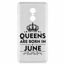 Чехол для Xiaomi Redmi Note 4x Queens are born in June - FatLine