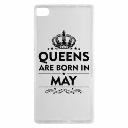 Чехол для Huawei P8 Queens are born in May - FatLine