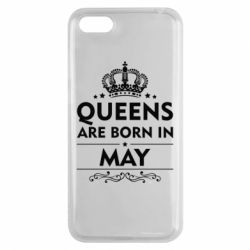 Чехол для Huawei Y5 2018 Queens are born in May - FatLine