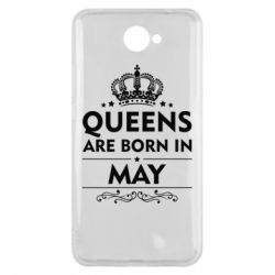 Чехол для Huawei Y7 2017 Queens are born in May - FatLine