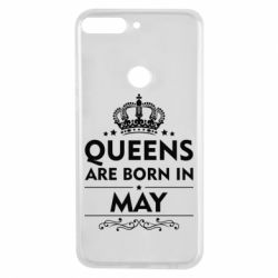Чехол для Huawei Y7 Prime 2018 Queens are born in May - FatLine