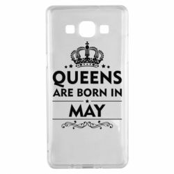 Чехол для Samsung A5 2015 Queens are born in May - FatLine