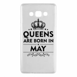 Чехол для Samsung A7 2015 Queens are born in May - FatLine