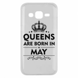 Чехол для Samsung J2 2015 Queens are born in May - FatLine