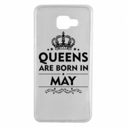 Чехол для Samsung A7 2016 Queens are born in May - FatLine