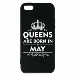 Чехол для iPhone5/5S/SE Queens are born in May - FatLine
