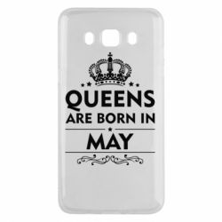 Чехол для Samsung J5 2016 Queens are born in May - FatLine