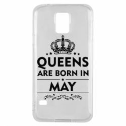 Чехол для Samsung S5 Queens are born in May - FatLine