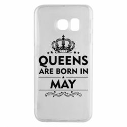 Чехол для Samsung S6 EDGE Queens are born in May - FatLine