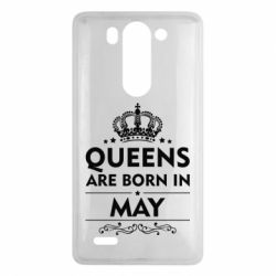 Чехол для LG G3 mini/G3s Queens are born in May - FatLine