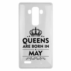 Чехол для LG G4 Queens are born in May - FatLine