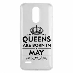 Чехол для LG K8 2017 Queens are born in May - FatLine