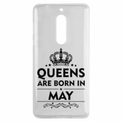 Чехол для Nokia 5 Queens are born in May - FatLine