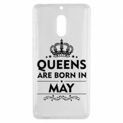Чехол для Nokia 6 Queens are born in May - FatLine