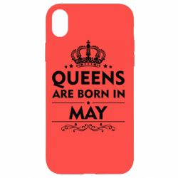 Чехол для iPhone XR Queens are born in May - FatLine