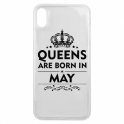 Чехол для iPhone Xs Max Queens are born in May - FatLine