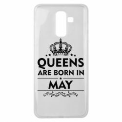 Чехол для Samsung J8 2018 Queens are born in May - FatLine