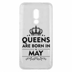 Чехол для Meizu 16 Queens are born in May - FatLine