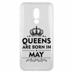 Чехол для Meizu 16x Queens are born in May - FatLine