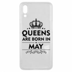 Чехол для Meizu E3 Queens are born in May - FatLine