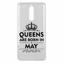 Чехол для Nokia 8 Queens are born in May - FatLine