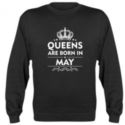 Реглан (свитшот) Queens are born in May - FatLine