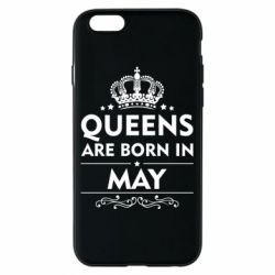 Чехол для iPhone 6/6S Queens are born in May - FatLine