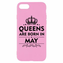 Чехол для iPhone 7 Queens are born in May - FatLine