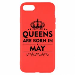 Чехол для iPhone 8 Queens are born in May - FatLine