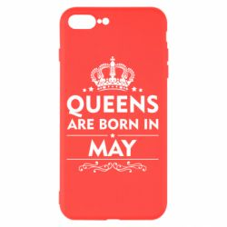 Чехол для iPhone 8 Plus Queens are born in May - FatLine