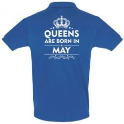 Футболка Поло Queens are born in May - FatLine