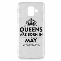 Чехол для Samsung A6 2018 Queens are born in May - FatLine