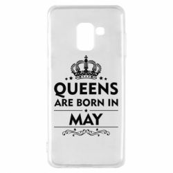 Чехол для Samsung A8 2018 Queens are born in May - FatLine
