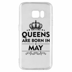 Чехол для Samsung S7 Queens are born in May - FatLine