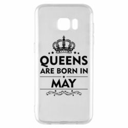 Чехол для Samsung S7 EDGE Queens are born in May - FatLine