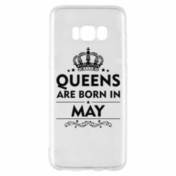 Чехол для Samsung S8 Queens are born in May - FatLine
