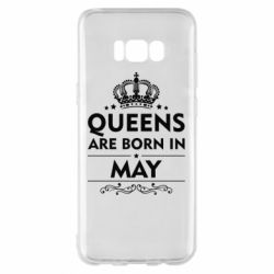 Чехол для Samsung S8+ Queens are born in May - FatLine