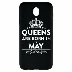 Чехол для Samsung J7 2017 Queens are born in May - FatLine