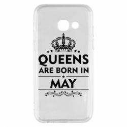 Чехол для Samsung A3 2017 Queens are born in May - FatLine